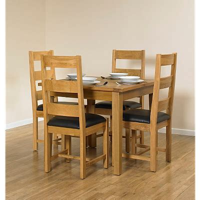 Small Extending Dining Table And 4 Chairs Beaumaris Light Oak Small Extending Dining Table And 4 Chairs Dining Tables Chairs Asda Direct