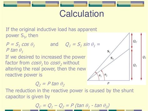 calculate capacitor q power factor
