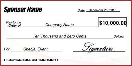 Abstract Business Presentation Check Signazon Presentation Cheque Template Free