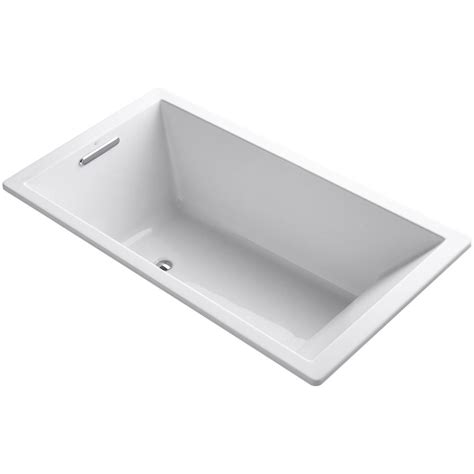 kohler drop in bathtubs kohler underscore 5 5 ft reversible drain bathtub in