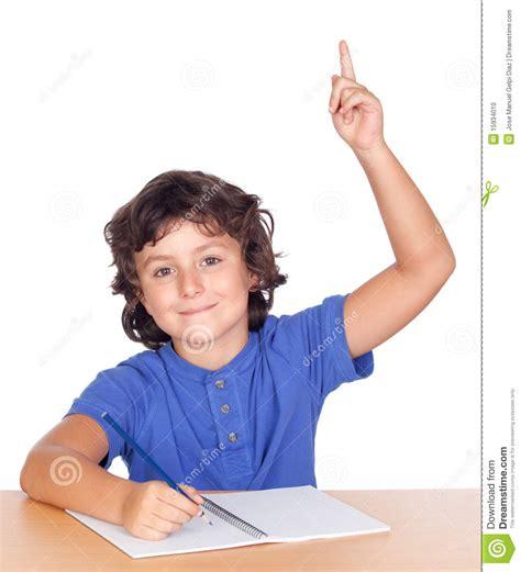 imagenes graciosas levantando la mano ni 241 o del estudiante que estudia levantando la mano foto de