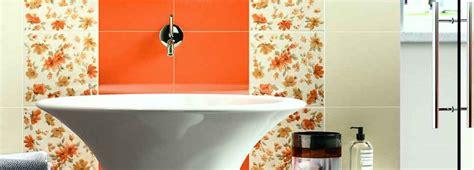 piastrelle finto mosaico piastrelle bagno arancione idee creative di interni e mobili