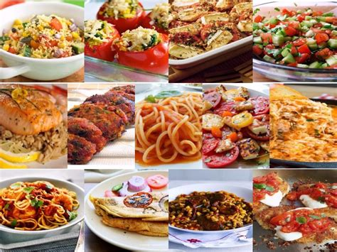 types of food meal type of dish