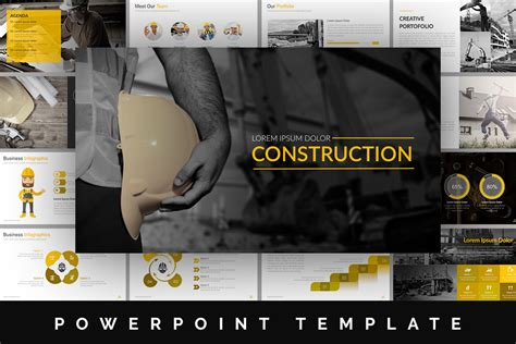construction powerpoint template by brandearth