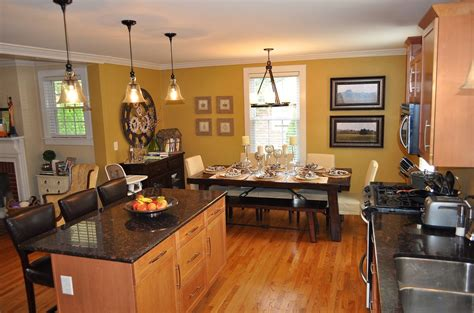 Kitchen And Breakfast Room Design Ideas Open Kitchen Dining Room Designs And Room Ideas Dining Open Plan Circle