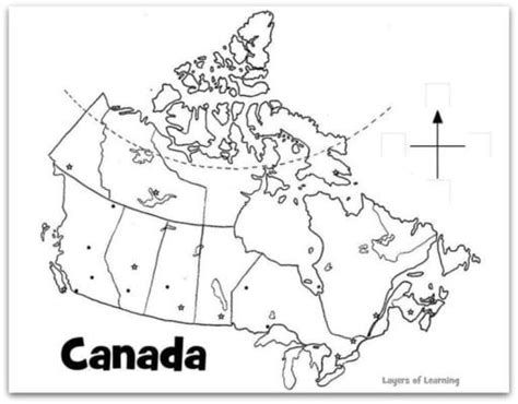 map of canada to color south korea for layers of learning