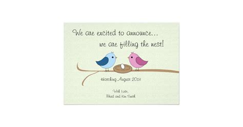 cute personalized pregnancy announcement zazzle