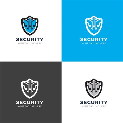 logo design templates security shield modern logo design template 001913