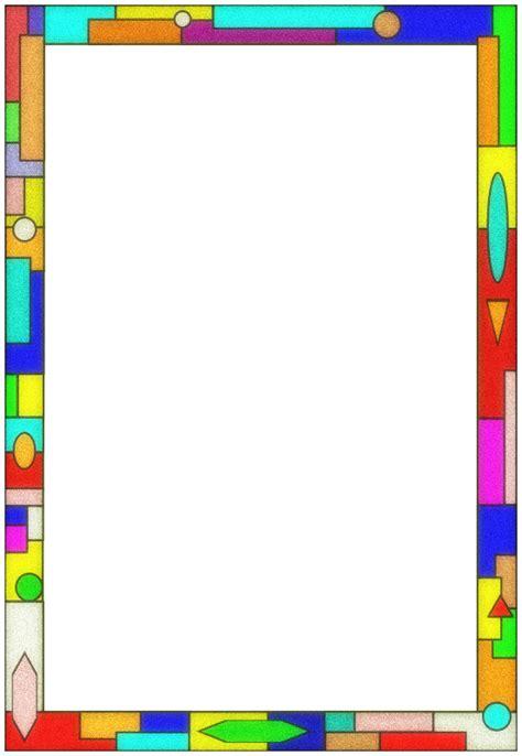 Bag Vertikal Lucu clipart stained glass border 01