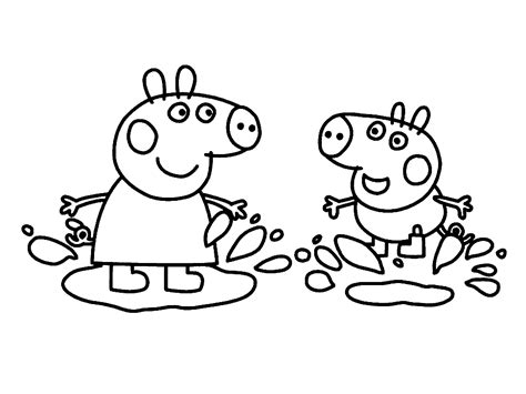 peppa pig cartoon coloring pages kids