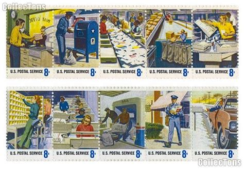 mailing a letter 1973 u s postal service postal service employees issue 1489