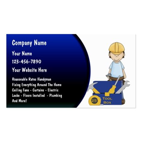 handyman business cards templates free handyman business cards zazzle