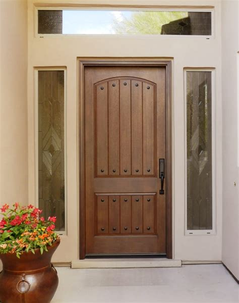 Precision Door And Window by Thermatru Ccr8205 Rustic Door Finished In Walnut 1 1 2