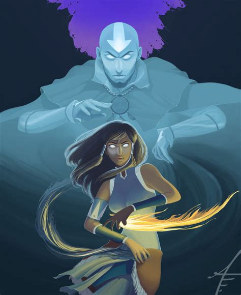 legend of korra avatar state by annashoemaker on deviantart