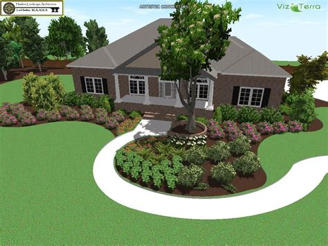 three welcoming front yard landscape designs surrounds new construction including little gem magnolia otto