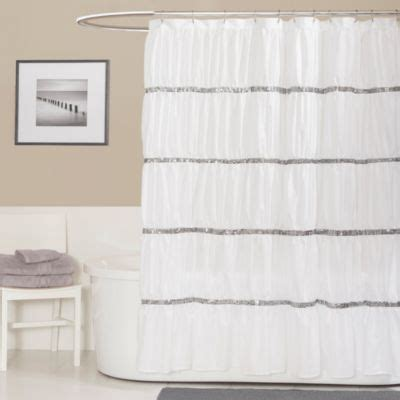 sequin shower curtain bed bath and beyond buy sequin white shower curtains from bed bath beyond
