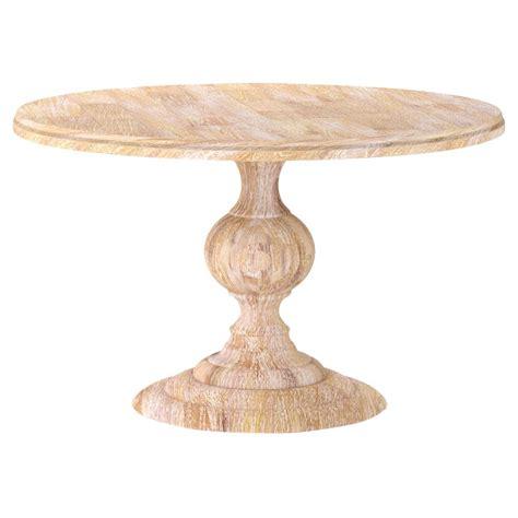 white washed wood dining table frida french country white wash round wood dining table