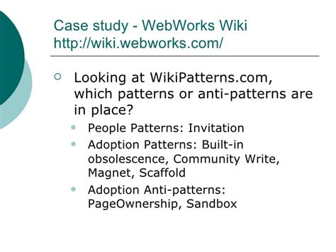 pattern writing wiki what does dita have to do with wiki