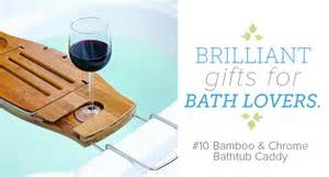 umbra aquala bamboo and chrome bathtub caddy brightnest 12 must have gifts for bath lovers