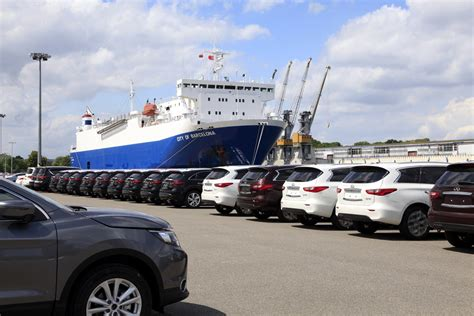 Port Cars by Nissan Chooses The Port Of Gdansk Poland At Sea