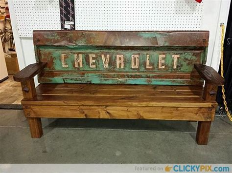 truck bench 41 diy truck tailgate bench ideas upcycle a rusty tailgate