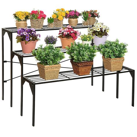 Paket Pot N Hanging For Window N Stand 3 In 1 large plant stand modern black metal 3 tier shelf flower