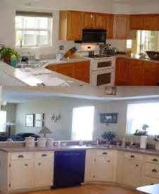 Kitchen Cabinets Before And After Painting painting kitchen cabinets before and after