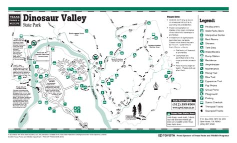 map texas state parks dinosaur valley texas state park facility and trail map dinosaur valley texas mappery