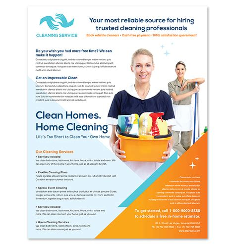 janitorial flyer templates cleaning janitorial services flyer template
