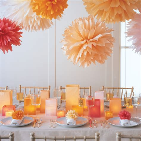 Diy Home Decorations Ideas pom poms and luminarias amp video martha stewart