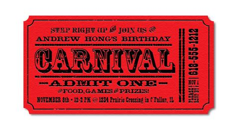 carnival event invitation ticket template carnival birthday invitations ideas bagvania free printable invitation template