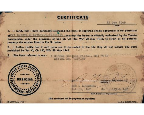 Holocaust And World War 2 Essay by World War Ii Marked Walther Pp Pistol With Capture Papers