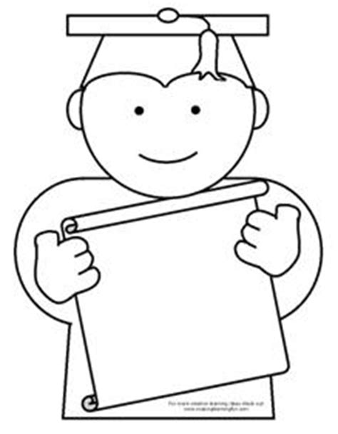 coloring pages for kindergarten graduation coloring page template for a graduation theme from