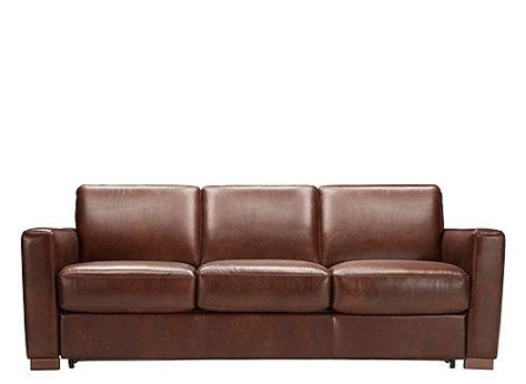 genuine leather sleeper the brenton leather queen sleeper sofa is the ideal piece