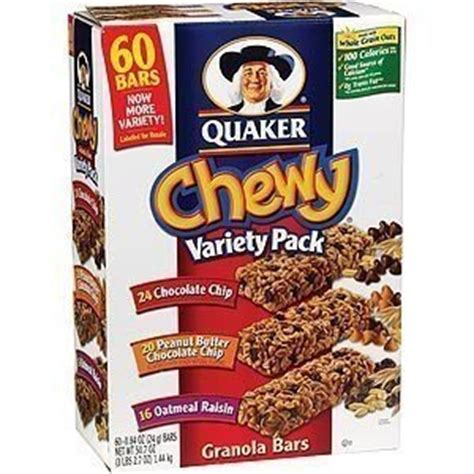 Chewy Gift Cards And Promotions - quaker chewy granola bars sixty bar variety pack 84 oz each amazon com grocery