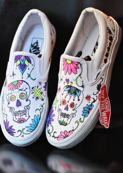 Sepatu Vans Nitro misyelle store diy sugar skull day of the dead vans
