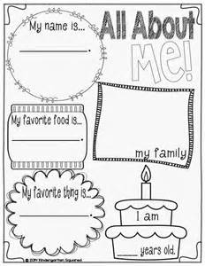 Collection all about me kindergarten worksheets pictures worksheet