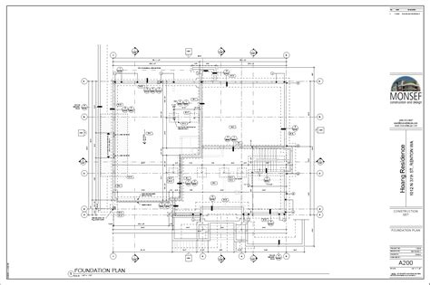 make a blue print monsef donogh design grouphoang residence sheet a200