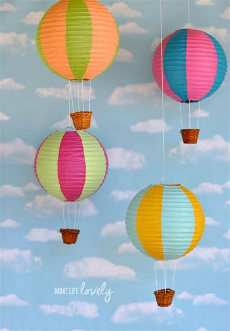 How To Make A Paper Air Balloon - diy nursery projects the budget decorator