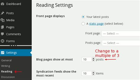 Wordpress Layout Per Page | change the posts per page in your portfolio category