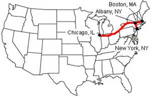chicago map new york