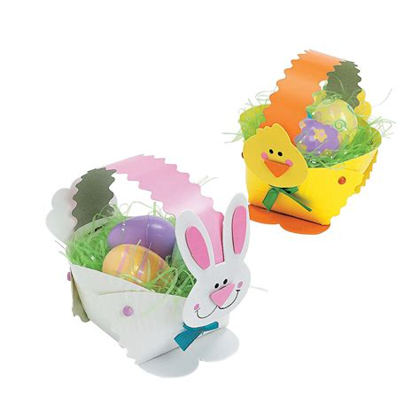 Paper Plate Easter Basket Craft - paper plate bunny easter basket craft kit