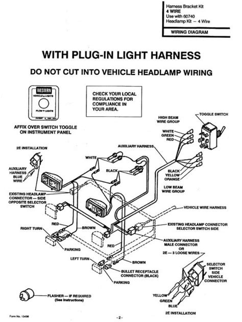 wiring diagram for western snow plow wiring automotive