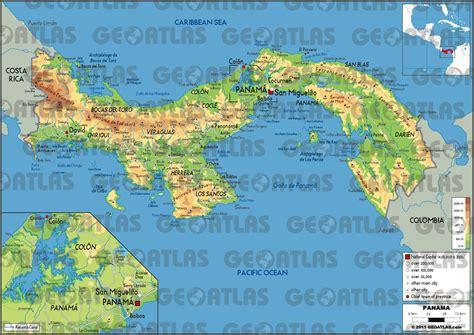 physical map of panama geoatlas countries panama map city illustrator fully