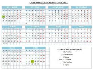 calendari curs 2016 2017 calendar template 2017