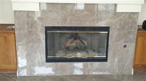 Custom fireplace installed by Affordable Flooring & More