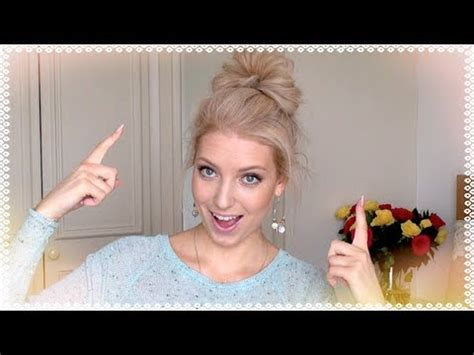 old fashioned hairstyles for long hair how to messy bun hair tutorial youtube