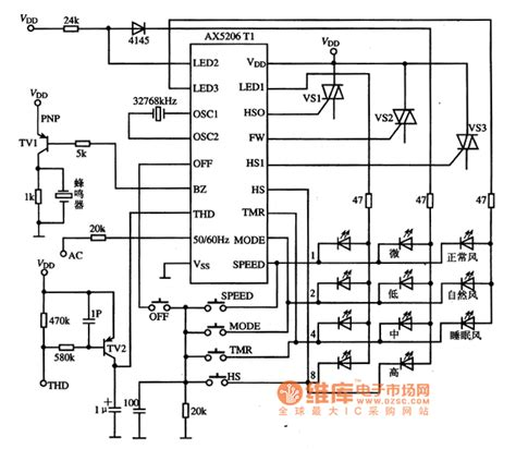 integrated circuit basics ax5206t1 and ax5206t3 fan single chip microcomputer integrated circuits basic circuit