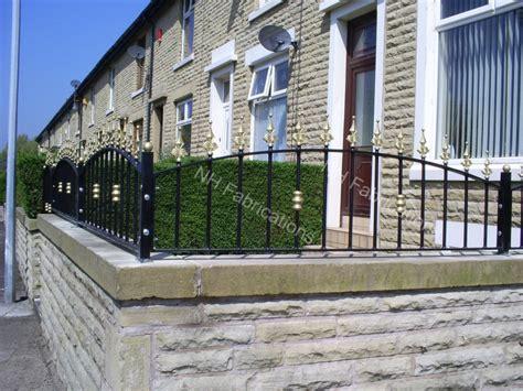 garden wall metal railings multi garden design