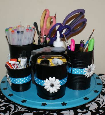 diy craft caddy diy desk organization on tin cans organizers and storage containers